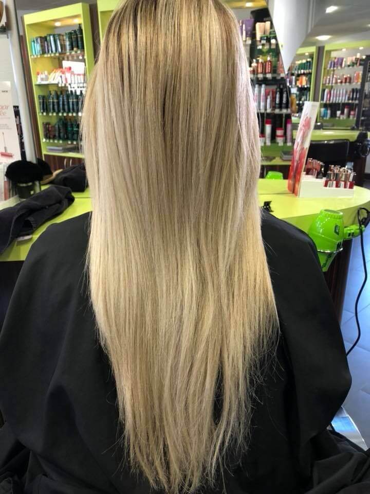 avant coloration blond polaire